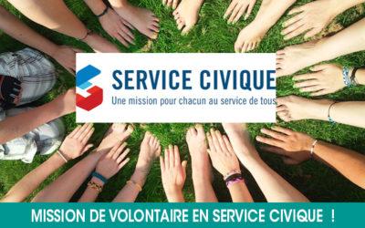 Nous recherchons un(e) volontaire en service civique !